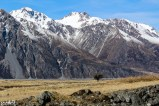 In Mt Cook National Park -- the Tasman River valley -- taken from Bowen Bush Walk