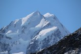 The peak of Mt Cook/Aoraki. Sir Edmund Hillary used Mt Cook to practice climbing for his Everest hike.