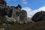 Grand stones on the foot of the mountains