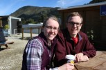 Jessica and William waiting to board the Interislander ferry to the North Island.