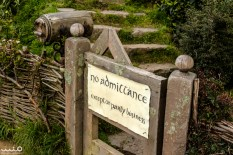 """Bilbo's mailbox and the famous """"No admittance except on party business"""" sign on his gate. You can put fanmail in the mailbox and it will actually be written a reply. We didn't know this before the tour, otherwise we might have written something to Bilbo!"""