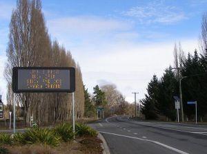 冬のニュージーランドの道路4