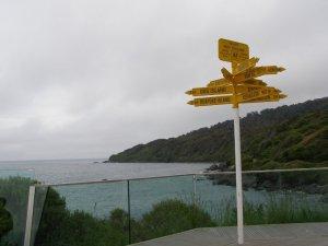 ブラフの道路標識