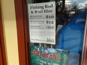 twizel rental fishing rod and reel