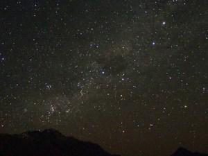 クイーンズタウンサンシャインベイウォーク入口からの星空、南十字星