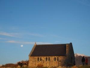 テカポ良き羊飼いの教会夕焼け