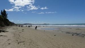 モエラキボールダーズビーチ2月25日干潮時