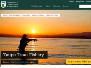 タウポ湖マス釣り情報
