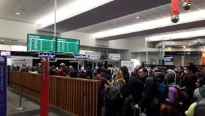 12月8日クイーンズタウン空港マニュアルチェックイン