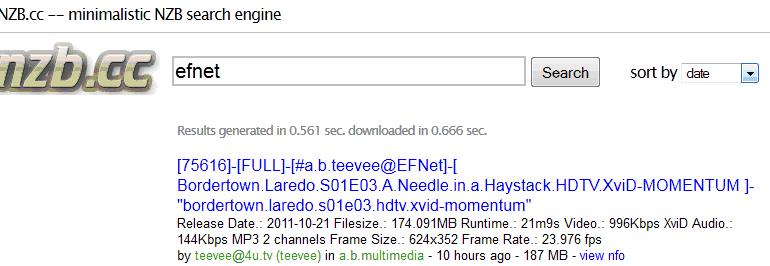 NZB.cc NZB bestanden zoeken en downloaden