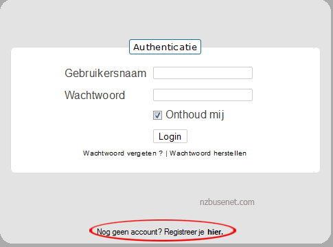 nzbee-account-aanmaken