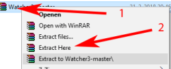 watcher-unpacking-windows watcher install windows