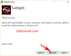 Sublight installeren Windows