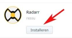 install radarr synology