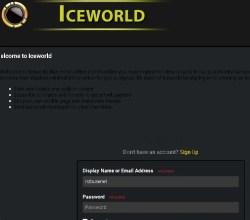Ice world login pagina Iceworld.online