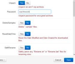 nzbget wachtwoord opgeven