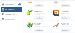 mariadb installeren synology