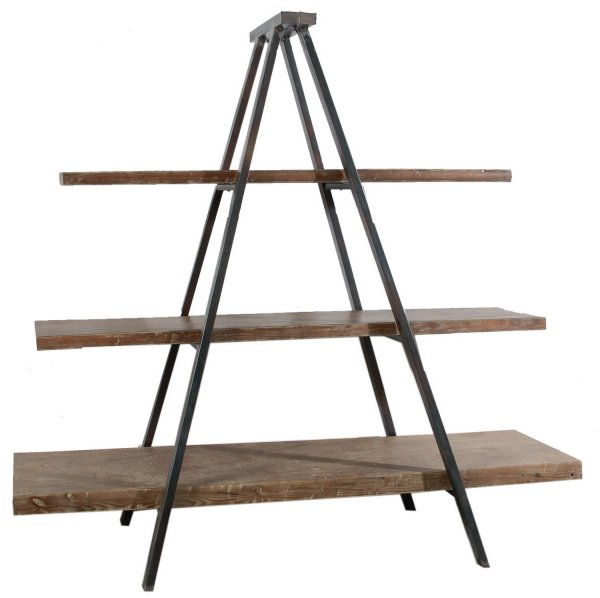 35163/ Vintage Style Wooden/Metal Display shelf Unit