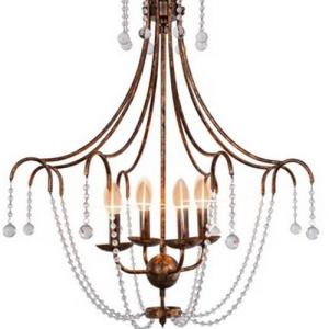 Antique gold foil chandelier