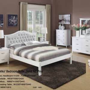 SAKURA vintage snow white bedroom set (5 pcs) on SALE