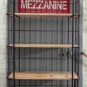 DA2612/ Fir & Metal 5-Tier Shelf w/ Casters