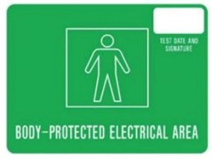 Body protected sign