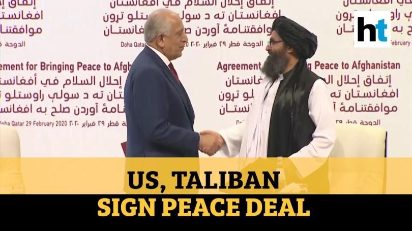 Regardez: les États-Unis et les talibans signent un accord de paix visant à mettre fin à la guerre en Afghanistan - YouTube
