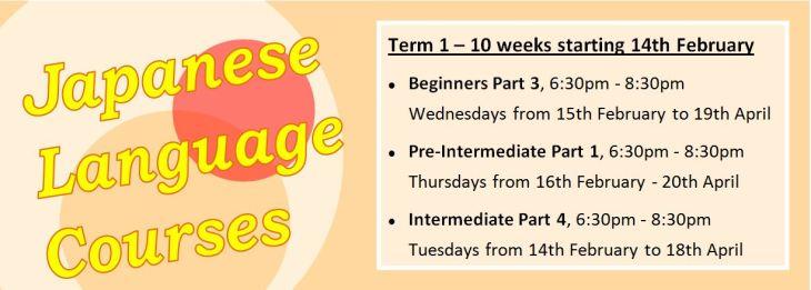 Japanese Language Courses Term 1