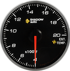 Shadow Pro 2.0 60mm Sports Meter -- Exhaust Temp