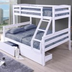 Cosmos White Duo Double Single Bunk Beds With 2 X Storage Drawers