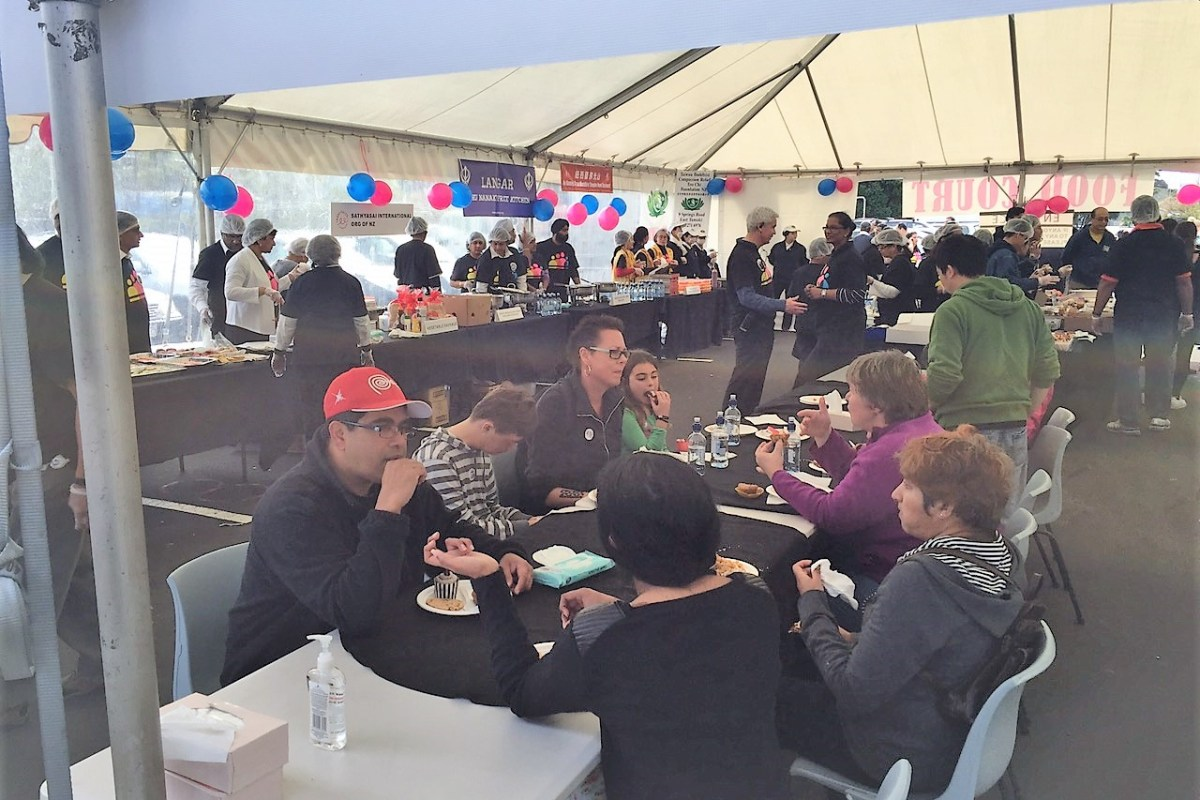 Food stalls organised by many other organisations