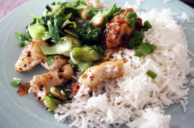 Easy Asian stirfry chicken