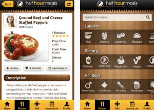 half hour meals food app