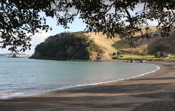 Beach on Motutapu Island, Auckland New Zealand