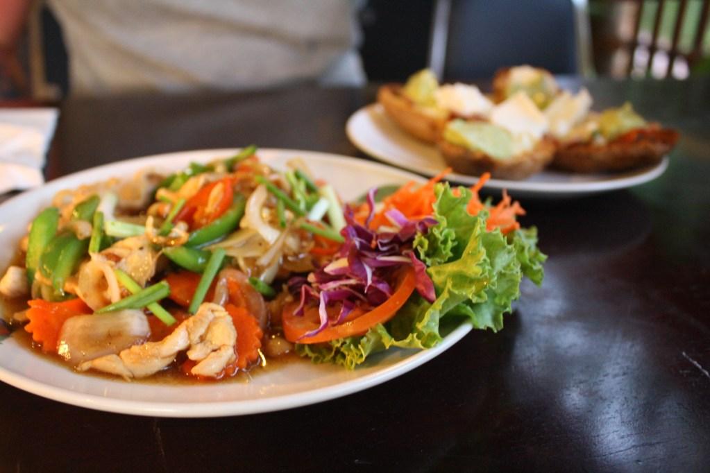 thai stir fry koh lanta at the tavern bar