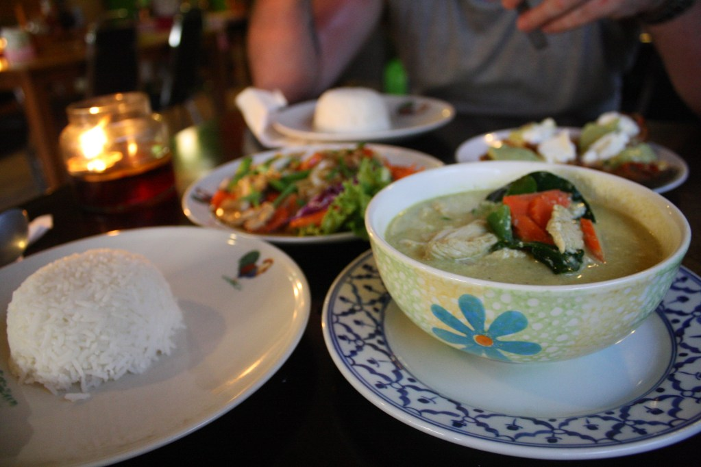 thai green curry the tavern koh lanta