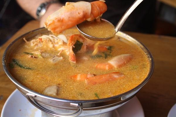 tom yum kung thailand hotpot khao san soi rambuttri