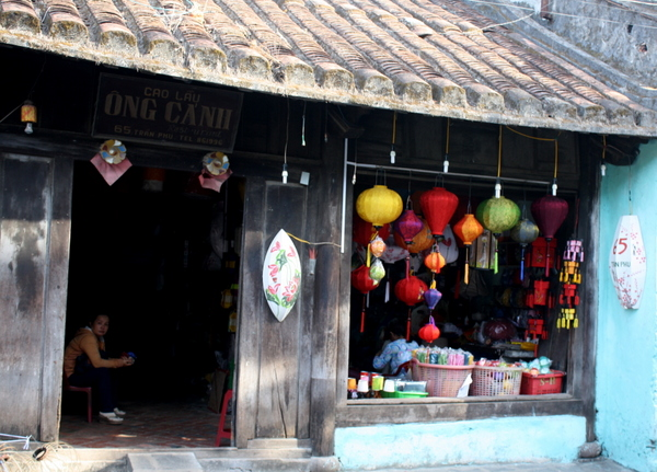 Ancient but colourful buildings in Hoi An