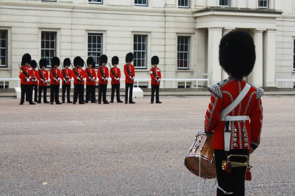 London guards at museum