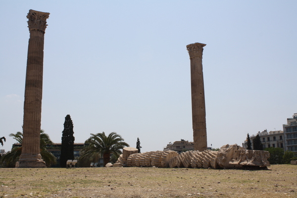 collapsed column temple of olympian zeus