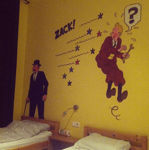 sunflower hostel berlin germany tintin room