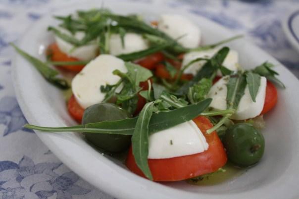 caprese salad amalfi town