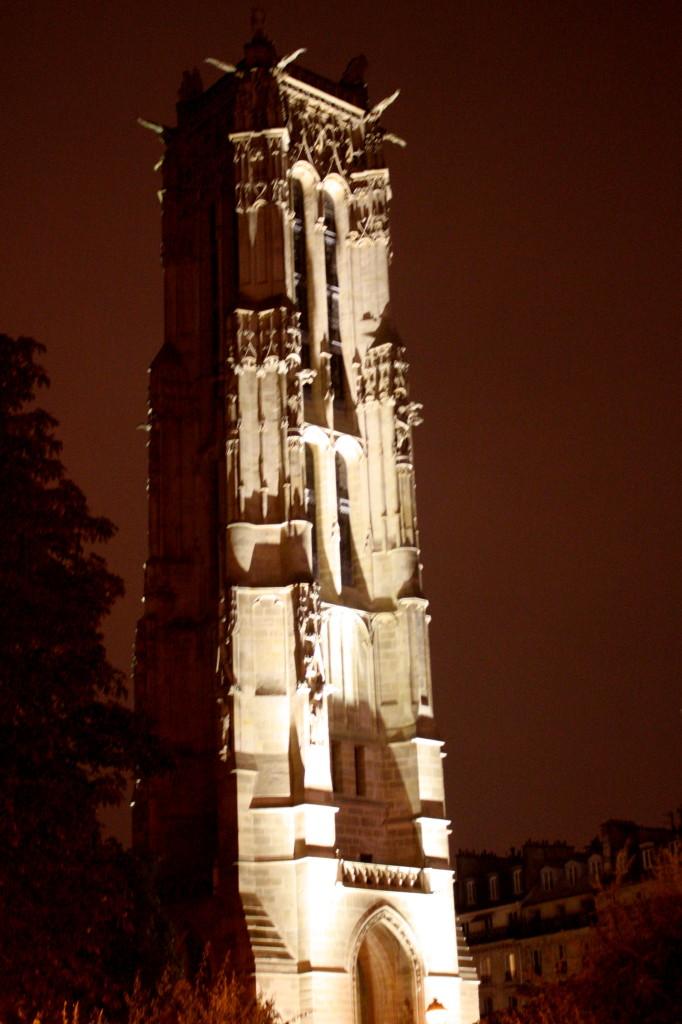 Saint Jacques tower - Paris at night