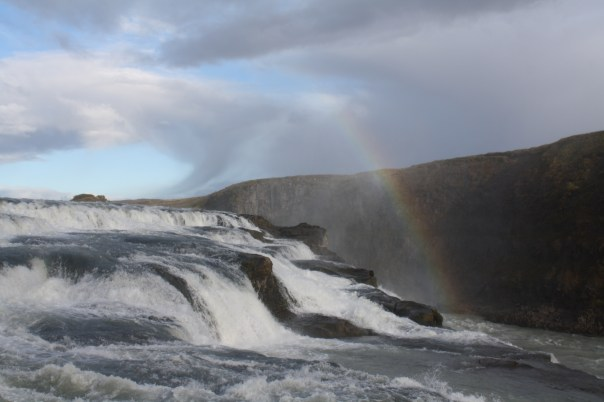 Gulfoss waterfall - Iceland golden circle with rainbow