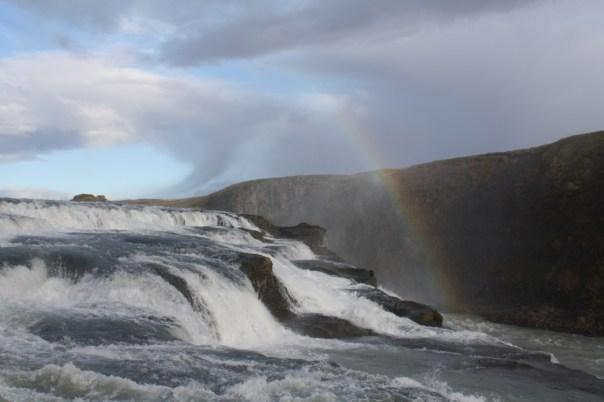 Gulfoss waterfall - Iceland golden circle with rainbow