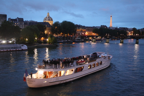 Paris - night boat cruise down the river seine