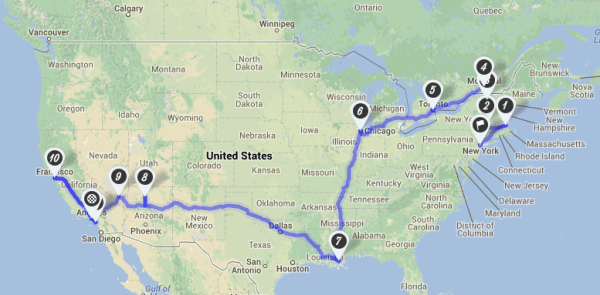nzmuse usa road trip route