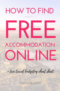 How to find free accommodation online - Couchsurfing, Hospitality Club, Staydu, Global Freeloaders