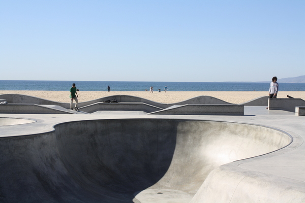Skate park at Venice Beach California