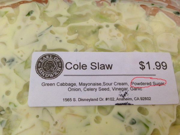 sugar in coleslaw - WTF